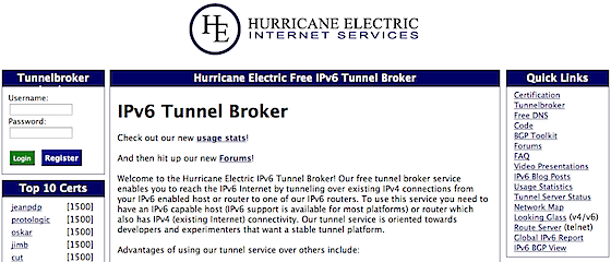 tunnelbroker.net Top