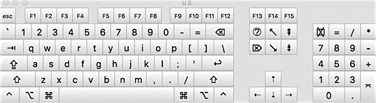 OSから見たキーボードの認識状態