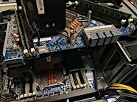 2nd CPU/Memoryモジュール搭載直前
