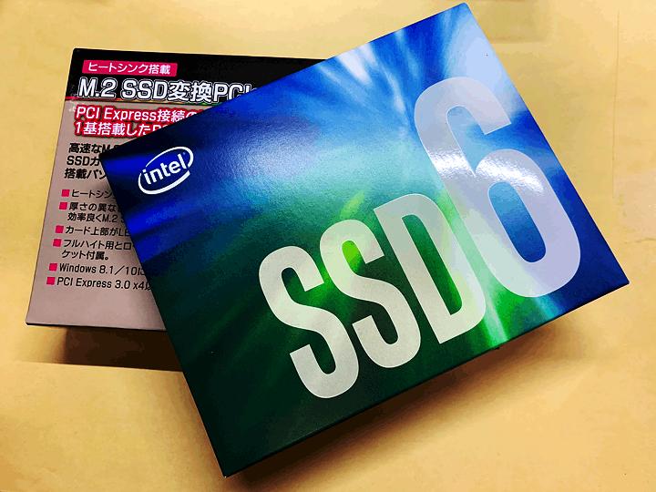 Intel 660pとアイネックスAIF-08