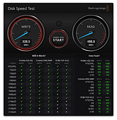 Disk Speed Testで測定 : SanDisk X600